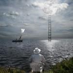 Moon Ladder Alastair Magnaldo Surreal Art Photography