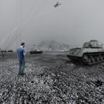 Combat War tank Alastair Magnaldo Surreal Photo Art