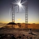 Stars ladders desert Alastair Magnaldo Surreal Photographic Art