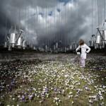 Pluie Arrosoirs Alastair Magnaldo Photographie d'Art surréaliste