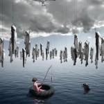 Fish fishing Alastair Magnaldo Surreal Photo Art