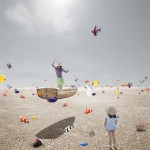 Mer poisson désert Alastair Magnaldo Photographie d'Art surréaliste