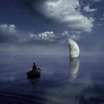 Coucher de lune sur mer Alastair Magnaldo Photographie d'Art surréaliste